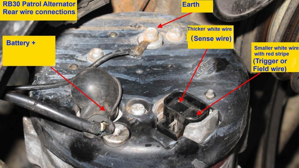 Alternator Wiring Identification Help Patrol 4x4 Nissan Patrol Forum