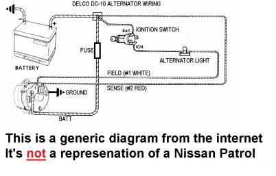 alternator wiring diagram nissan alternator wiring identification help patrol 4x4 nissan patrol  patrol 4x4 nissan patrol