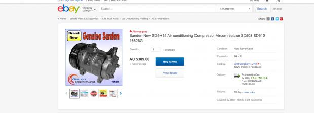 Replacement Sanden AC Compressors for MK SD33T | Patrol 4x4