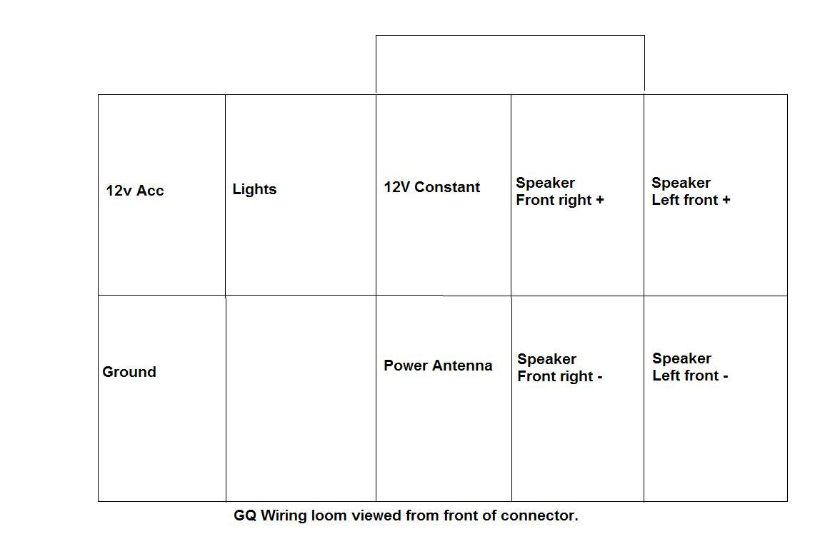 Wiring Diagram For Radio In Gq Patrol 4x4 Nissan Patrol Forum