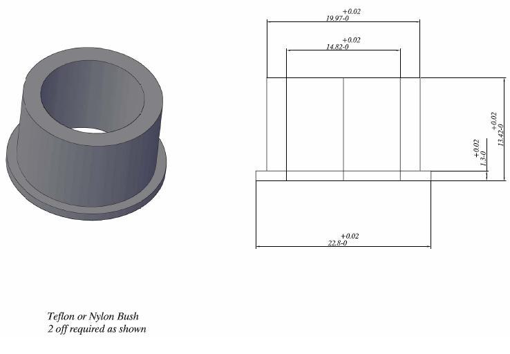 ZD30 Y61 Belt Tensioner Bush - Drawing | Patrol 4x4 - Nissan Patrol