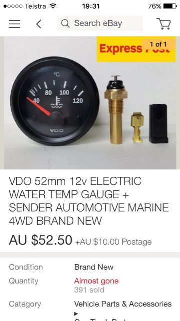 TD42 extra water coolant gauges everyone using   Patrol 4x4