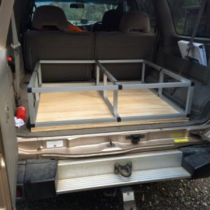 The start of my rear draw system