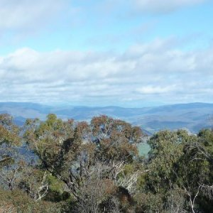 The view south towards vic alps