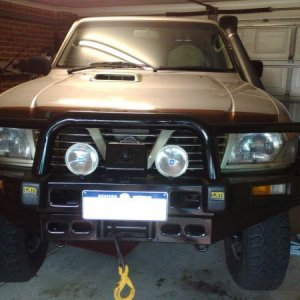 painted bullbar