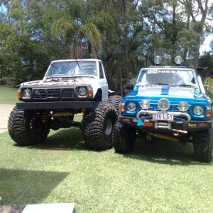 next to my ute with a 7 inch lift