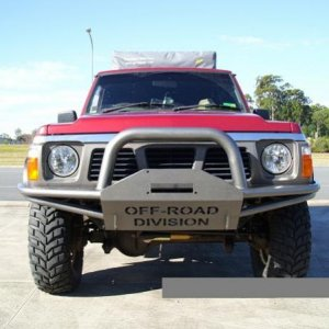 Custom Winch Bar by Offroad Division.