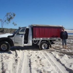 "first trip to Bribie with the ""new"" truck!"
