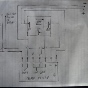 Electrical Schematic. Getting better for an electrical dyslexic. Decided to wire up through Ign and fitting a mini switch (JayCar) to the unit as bypa