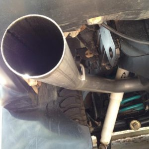 "New 3"" exhaust thanks to Scott's rods"