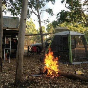 Campsite at alligator billabong