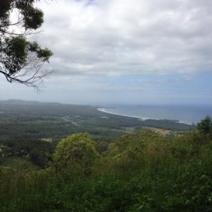 View from the top of rover trail overlooking coffs